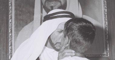 يوم ميلاد فخر الإمارات.. شاهد ولى عهد أبوظبى فى سن الطفولة مع جده محمد بن خليفة