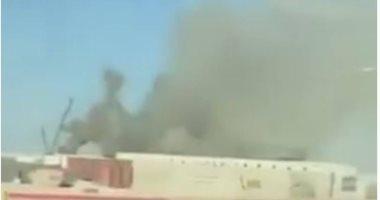 فيديو.. اللقطات الأولى لحريق أحد ملاعب مونديال قطر 2022