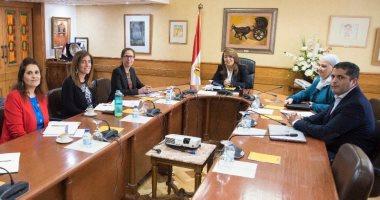 غادة والى تستقبل المدير الإقليمى للبنك الدولى بمصر لمتابعة برامج الحماية الاجتماعية