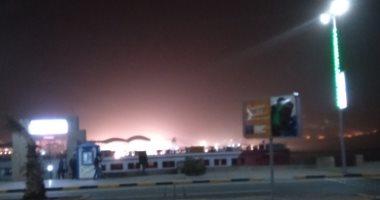 محافظة أسوان تتعرض لعاصفة ترابية تسفر عن حجب الرؤية أمام حركة المرور
