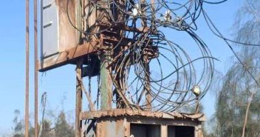 شكوى من أهمال محول كهرباء منذ 10 سنوات بقرية أولاد صقر بالشرقية