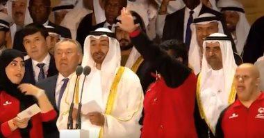 محمد بن زايد يفتتح الأولمبياد الخاص: نعتز بتواجدنا مع جميع أبطال العالم