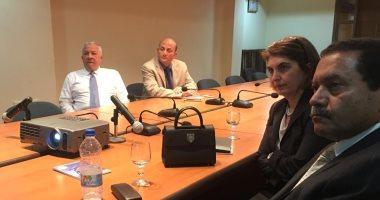 رئيس موانئ البحر الأحمر يبحث مع مسئولى شركة يونانية فرص الاستثمار