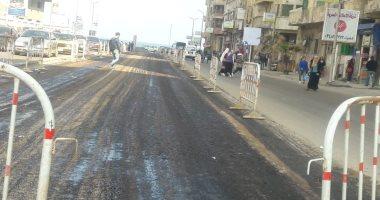 صور.. توسعة الشوارع الرئيسية بالإسكندرية للتغلب على الزحام المرورى
