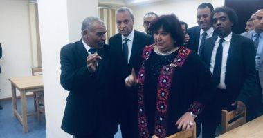 صور.. وزيرة الثقافة تفتتح قصر ثقافة قنا بعد تطويره بتكلفة 60 مليون جنيه