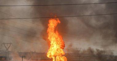 حريق فى خط أنابيب بالبحيرة .. ومصدر بالشركة: لصوص تسببوا فى الكسر