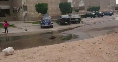 شكوى من انتشار مياه الصرف الصحى بشوارع المجاورة التانية بمدينة الشيخ زايد