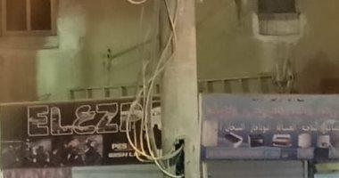 شكوى من تدلى الأسلاك الكهربائية من عمود إنارة بشارع كريستال عصفور شبرا الخيمة