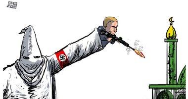 هجوم نيوزيلندا بالكاريكاتير.. طائر الكيوى يبكى نيران الإرهاب القومى الأبيض