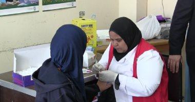 الكشف على 20 ألف طالب وتطعيم 45099 طفل بالبحر الأحمر والوادى الجديد