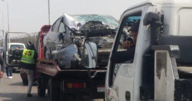 إصابة 12 شخصا فى حادثى تصادم بطريق بلبيس