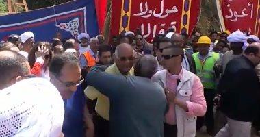 على عبد العال: سعدت بزيارة مسقط رأسى دراو والمحور الجديد يقضى على التكدس