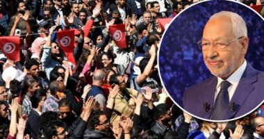 نشطاء تونسيون ينظمون اعتصاما أمام البرلمان للمطالبة برحيل راشد الغنوشى