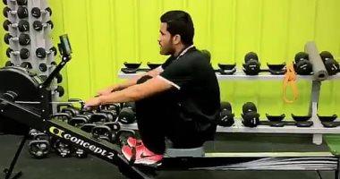 صالح جمعة يستغل الإجازة للتدريب فى الجيم