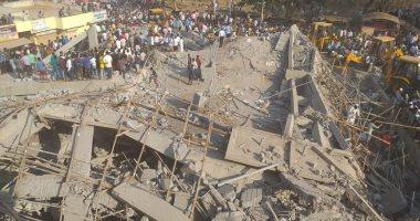 فيديو وصور.. انهيار مبنى سكنى فى الهند وأكثر من 90 شخصا تحت الأنقاض