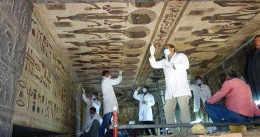 صور.. الآثار تبدأ المرحلة الأولى لترميم معبد إسنا.. اعرف التفاصيل