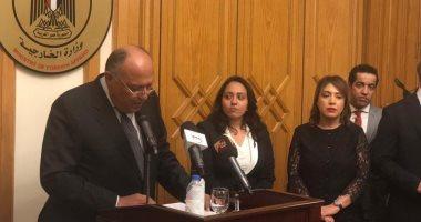 صور.. سامح شُكرى يُؤكد على دور الخارجية فى الدفاع عن مصالح الشعب المصري