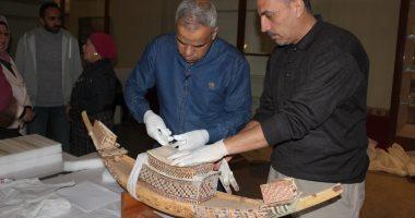 المتحف الكبير يستقبل 35 قطعة خشبية من مركب خوفو الثانية و118من المتحف المصرى