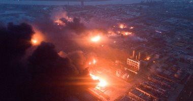 صور.. مصرع 47 شخصا وإصابة 640 فى انفجار بمصنع كيماويات فى الصين