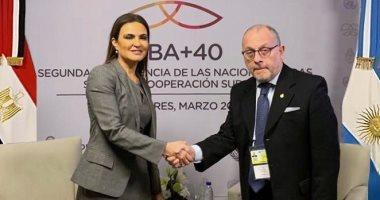 وزير خارجية الأرجنتين لـسحر نصر: نتطلع لنقلة فى العلاقات الثنائية مع مصر style=