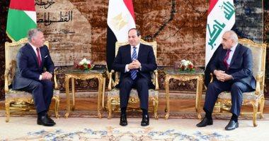 قمة ثلاثية بين زعماء مصر والأردن والعراق لتعزيز التعاون