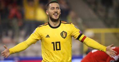هازارد ينتظر ظهوره المئوى مع بلجيكا ضد قبرص الليلة بتصفيات يورو 2020