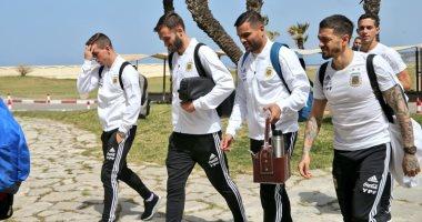 """منتخب الأرجنتين يصل المغرب لمواجهة """"أسود الأطلس"""".. فيديو وصور"""