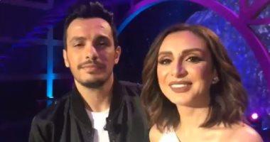 فيديو.. أنغام وزوجها يوجهان رسالة حب للجمهور بأول لقاء تليفزيونى