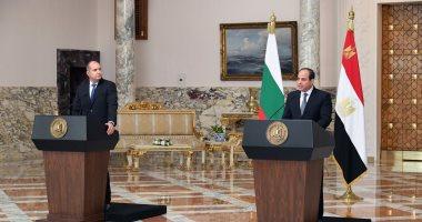 نص كلمة الرئيس السيسى خلال المؤتمر الصحفى مع نظيره البلغارى رومن راديف
