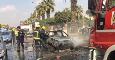 """إنفوجراف.. """"معلومات مجلس الوزراء"""" يستعرض إرشادات التعامل مع حريق السيارة"""