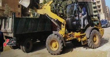 """""""نظافة الجيزة"""" ترفع 10 آلاف طن مخلفات من الحدائق وشوارع المحافظة"""
