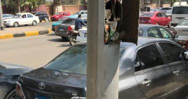 شكوى من خروج أسلاك كهرباء من أحد الأعمدة بشارع كورنيش العجوزة