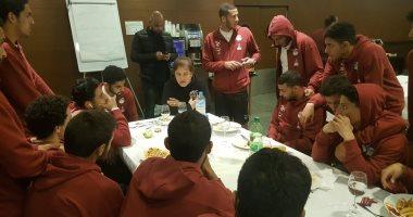 سويلم يوضح لنجوم المنتخب الأولمبى أهمية التعديلات الدستورية