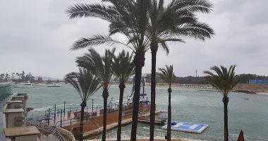 صور.. رغم الطقس السيئ.. الأمطار تحول حدائق قصر المنتزه للوحات فنية رائعة