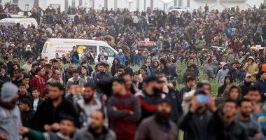 إصابة نحو 50 فلسطينيا في احتجاجات عند حدود غزة فى ذكرى النكبة