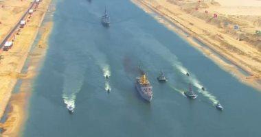 عبور 53 سفينة قناة السويس اليوم بحمولة 3.2 مليون طن