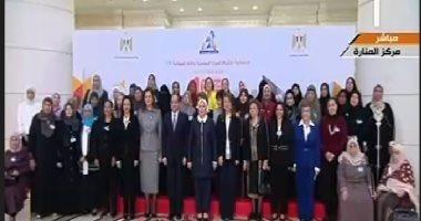 الرئيس السيسى يصل مقر احتفالية تكريم المرأة المصرية والأم المثالية