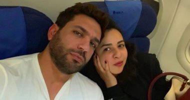 حسن الرداد يوجه رسالة رومانسية لـ إيمى سمير غانم بمناسبة عيد ميلادها