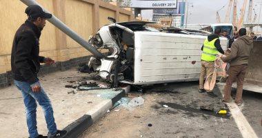 إصابة 6 فى حادث تصادم بين سيارة ودراجة بخارية بطريق سوهاج الزراعى الشرقى