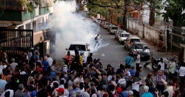 مواجهات بين شرطة فنزويلا ومؤيدين لزعيم المعارضة جوايدو