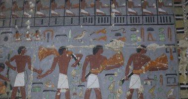 صور.. اكتشاف مقبرة أحد النبلاء فى عهد الملك جدكارع بجنوب سقارة.. اعرف التفاصيل