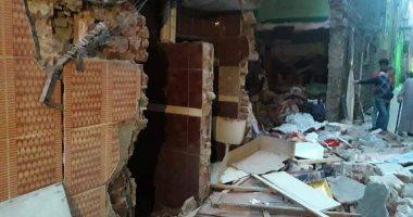اصابة ربة منزل فى إنهيار منزل قديم سوهاج