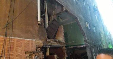 انهيار عقار قديم مكون من 5 طوابق بحدائق القبة دون اصابات