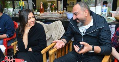 """صور.. """"اليوم السابع"""" فى كواليس مسلسل ياسمين عبد العزيز """"لآخر نفس"""""""