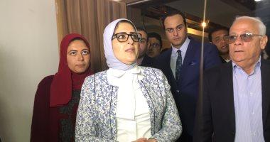وزيرة الصحة تتفقد مستشفى الزهور المركزى فى بورسعيد