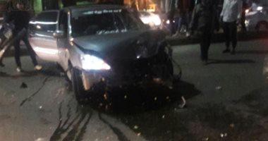 إصابة 7 أشخاص فى حادث تصادم سيارتين بالطريق الدولى الساحلى بالبحيرة