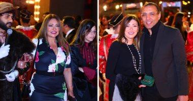 """ليلى علوى وخالد صلاح وشريهان أبو الحسن فى العرض الخاص لمسرحية """"الملك لير"""""""