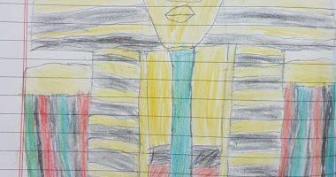 الطفل أدم يشارك اليوم السابع بصور من رسوماته