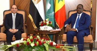 السيسى: بحثت مع رئيس السنغال الأوضاع فى منطقة غرب أفريقيا