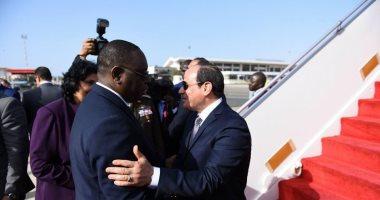السيسى يصل العاصمة السنغالية داكار
